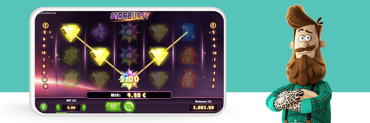 Starburst slot bonus win